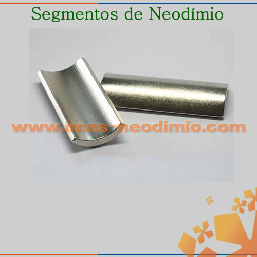 ímãs de neodímio N30EH segmentos