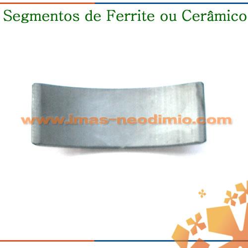 ímãs de ferrite ou cerâmica segmentos