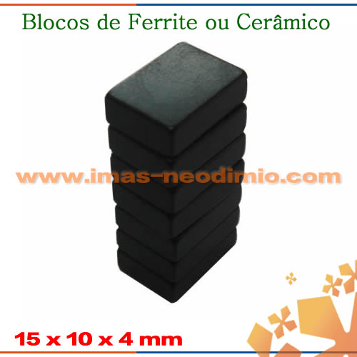 ímãs ferrite em formato de bloco