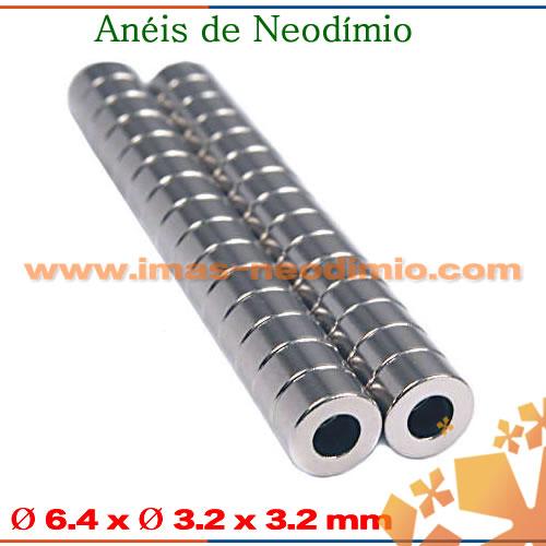anéis magnéticas com ímãs neodímio