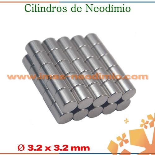 ímãs cilindro de neodímio niquelados