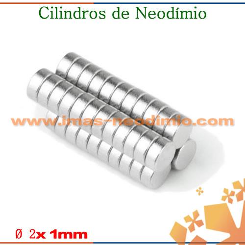ímãs em formato de cilindro