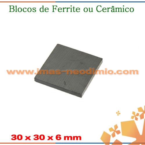 ímãs em formato de quadrado ferrite