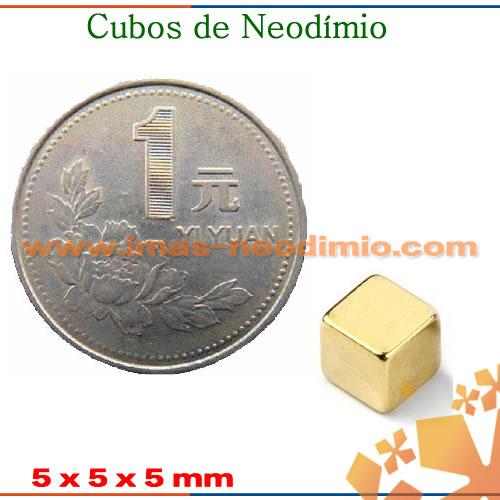 imãs em neodimio cubo dourados