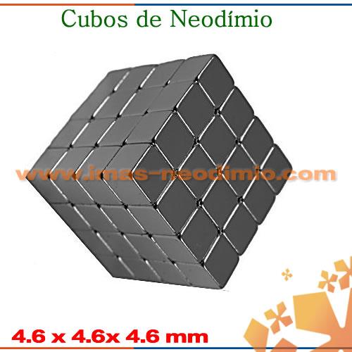 ímãs em formato de cubo