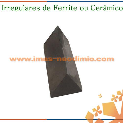 ímã irregular de cerâmica