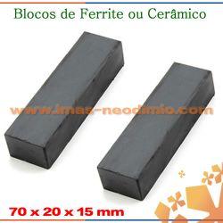ferrite ima em formato de bloco
