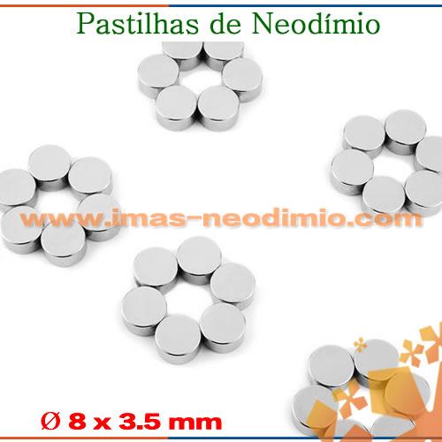 ímãs pastilhas de neodímio