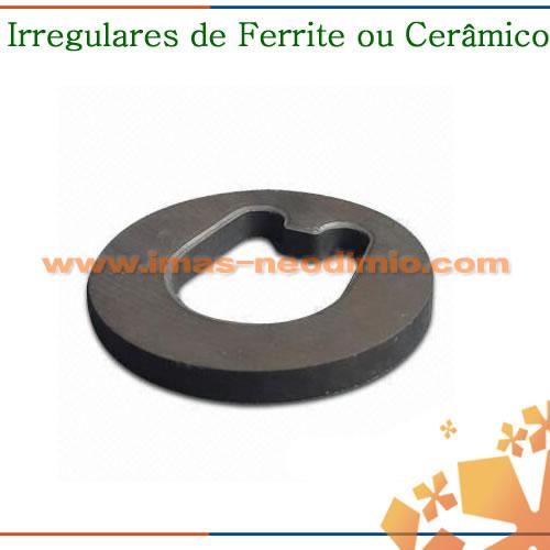 irregular de ferrite ou cerâmica
